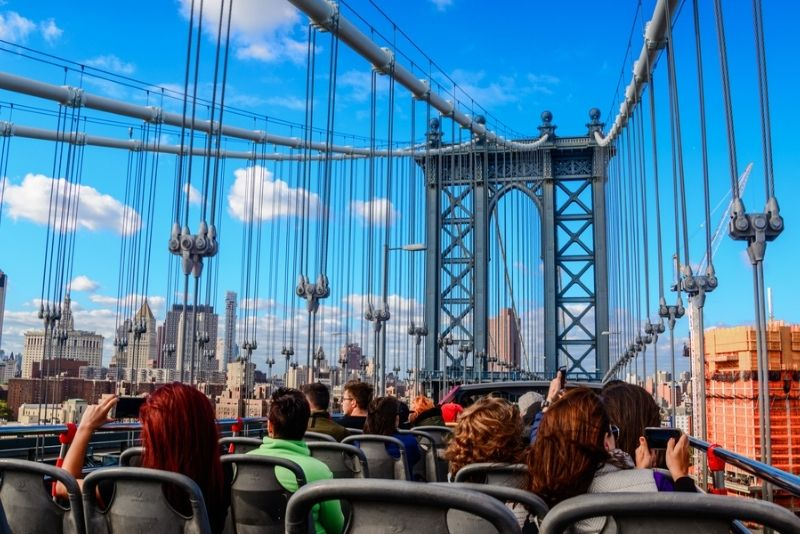 NYC hop-on hop-off bus tour