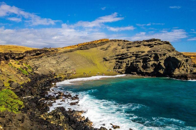 Papakolea Green Sand Beach, Big Island, Hawaii