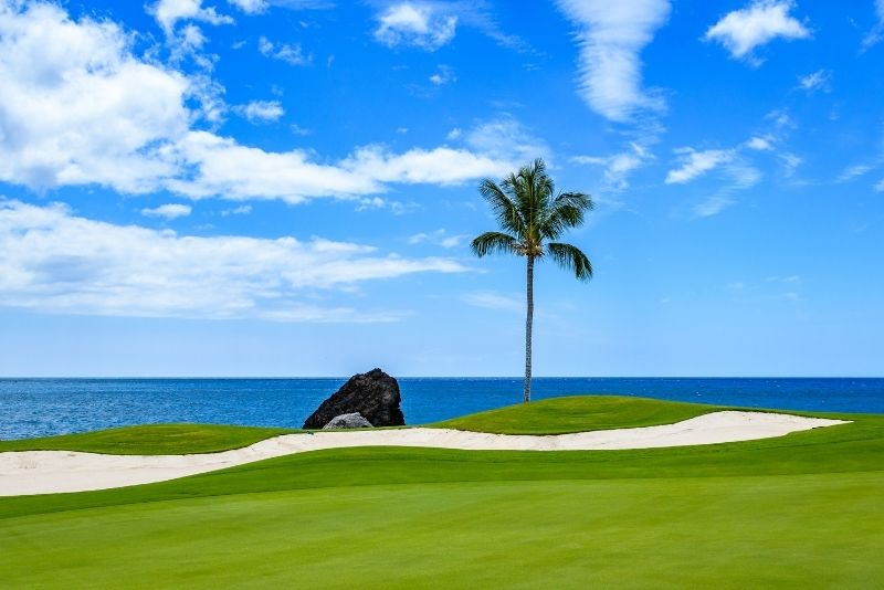 golfing on the Big Island, Hawaii