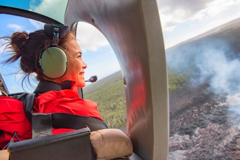 helicopter tour on the Big Island, Hawaii