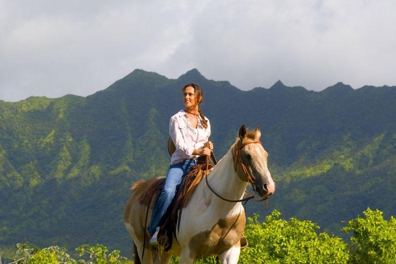 horse riding in Kauai