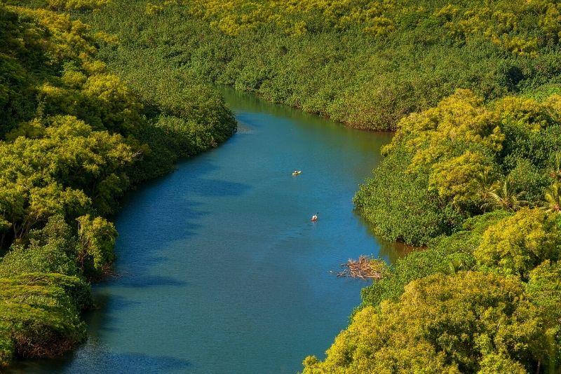 kayak tour in Wailua River