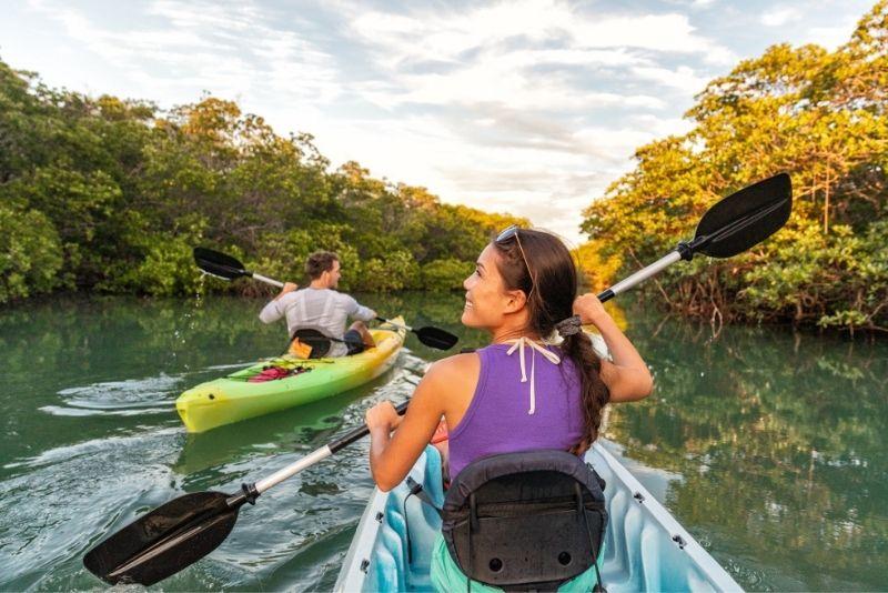kayaking in Key Largo