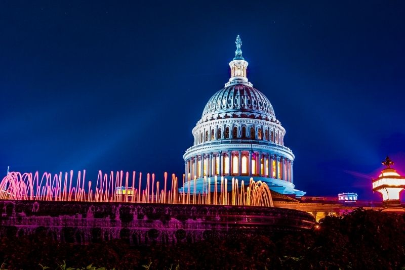 DC monuments nighttime tour