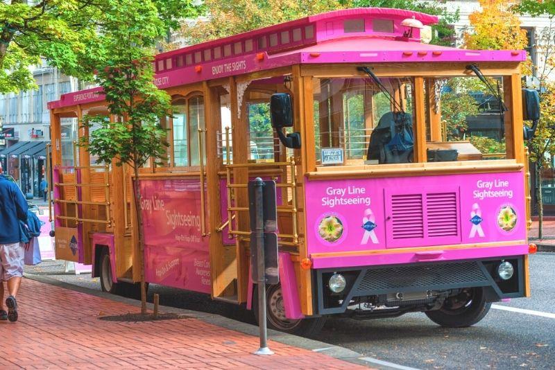 Pink Trolley City Tour, Portland, Oregon