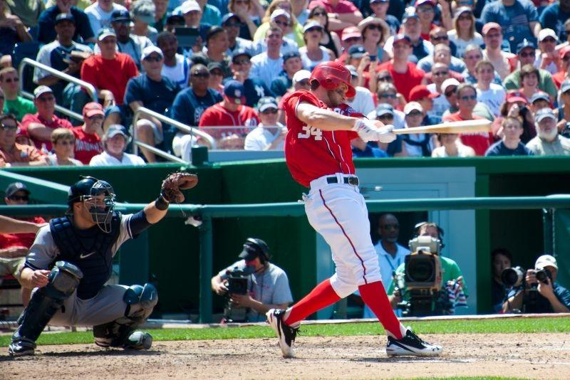 baseball game at Nationals Park
