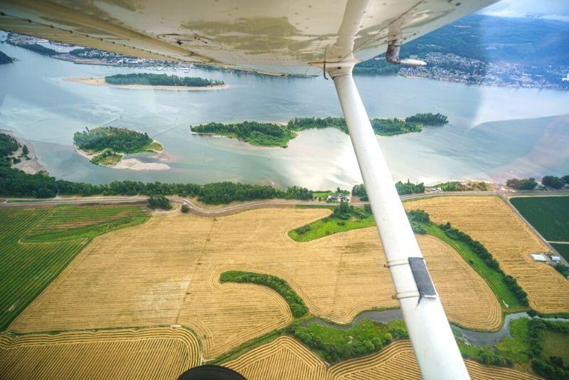 flying in Portland, Oregon