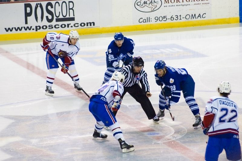 hockey game at Scotiabank Arena