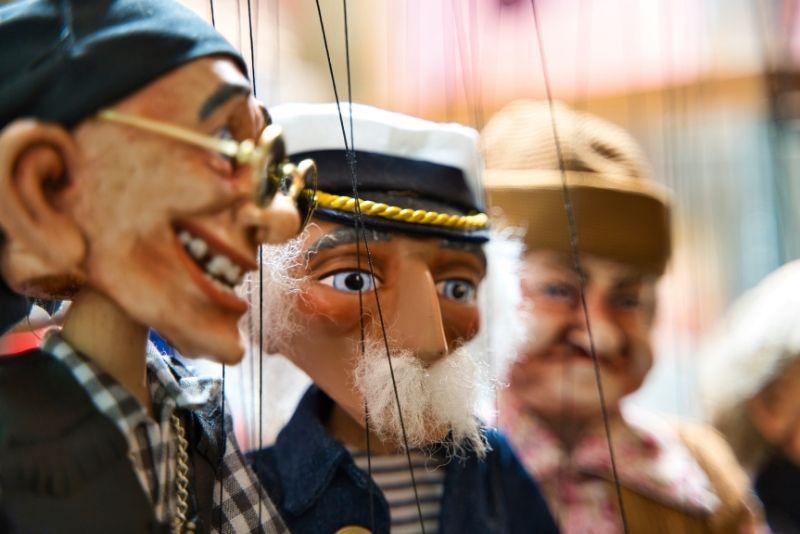 spettacoli di marionette a Praga