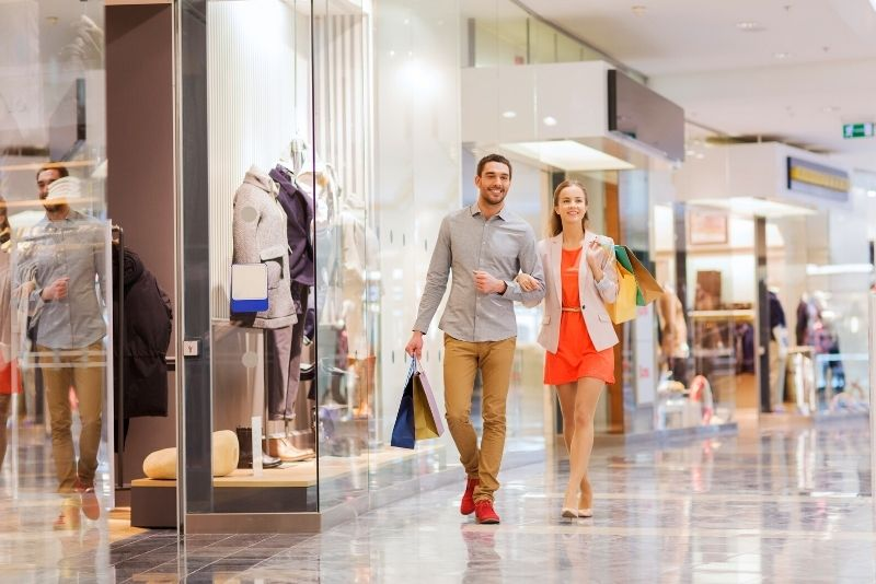shopping at CF Toronto Eaton Centre