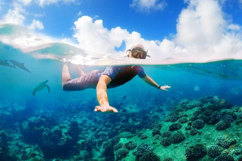 snorkeling at Lanai Island