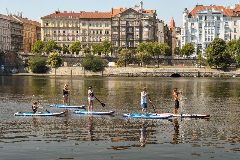 stand-up paddle a Praga