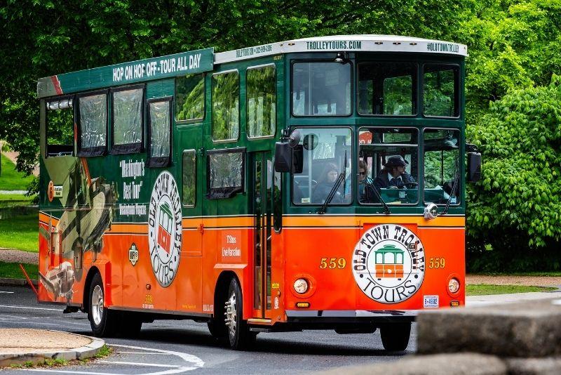 trolley tour in Washington DC