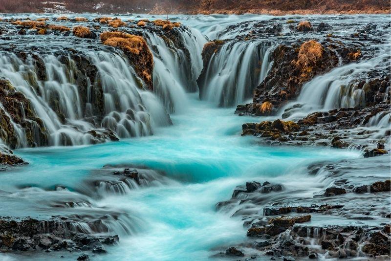 Brúarfoss Wasserfall, Island