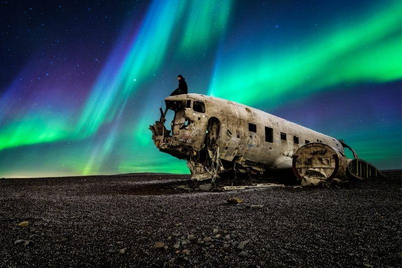 Dakota-Flugzeugwrack in Island