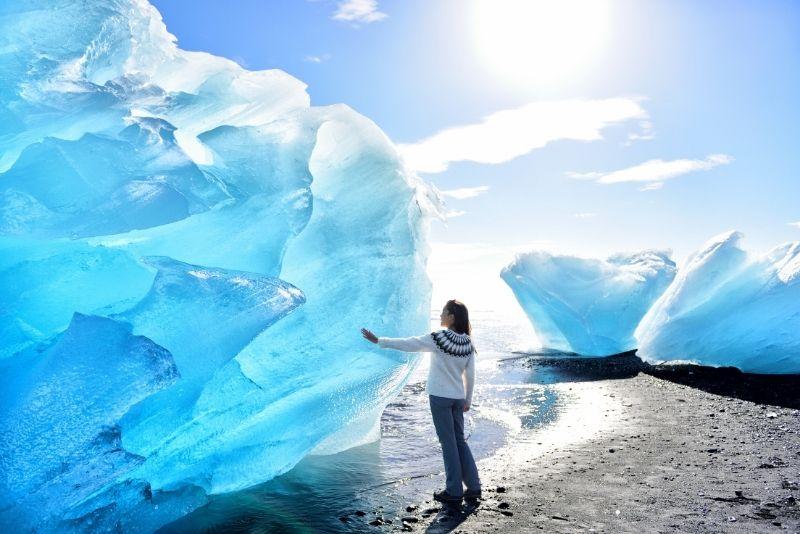 Diamond Beach in Islanda
