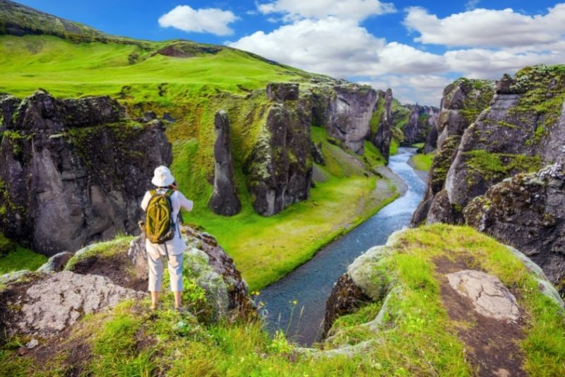 Fjadrargljufur-Schlucht in Island