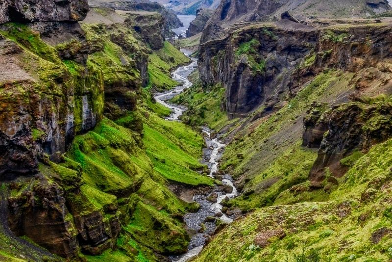 Verstecktes Tal von Thor Thorsmork, Island