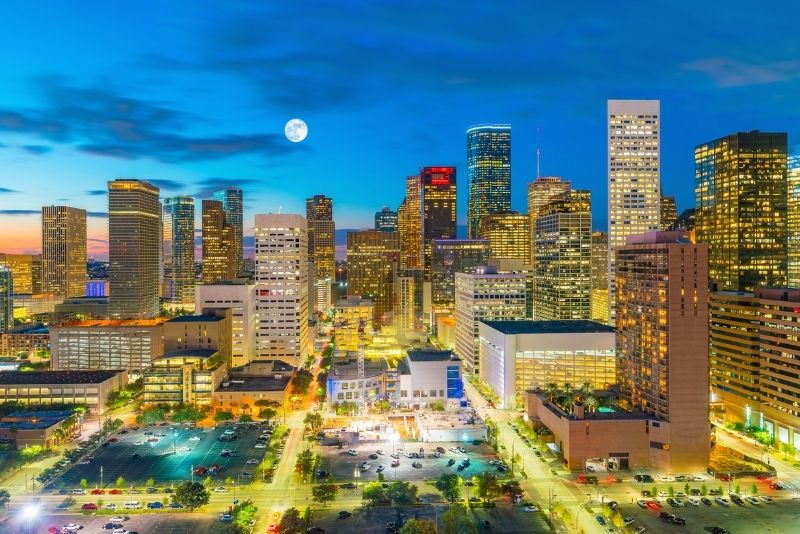 Houston skyline in Texas