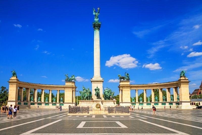 Millenium Monument at Heroes' Square, Budapest