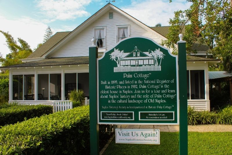 Naples Historical Society's Historic Palm Cottage, Florida