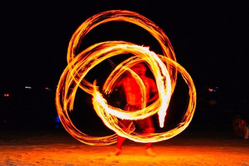 Polynesian fire Luau dinner show in Myrtle Beach
