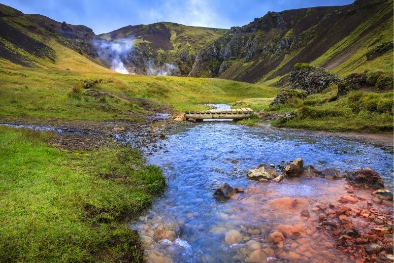 Reykjadalur Flusstouren, Island