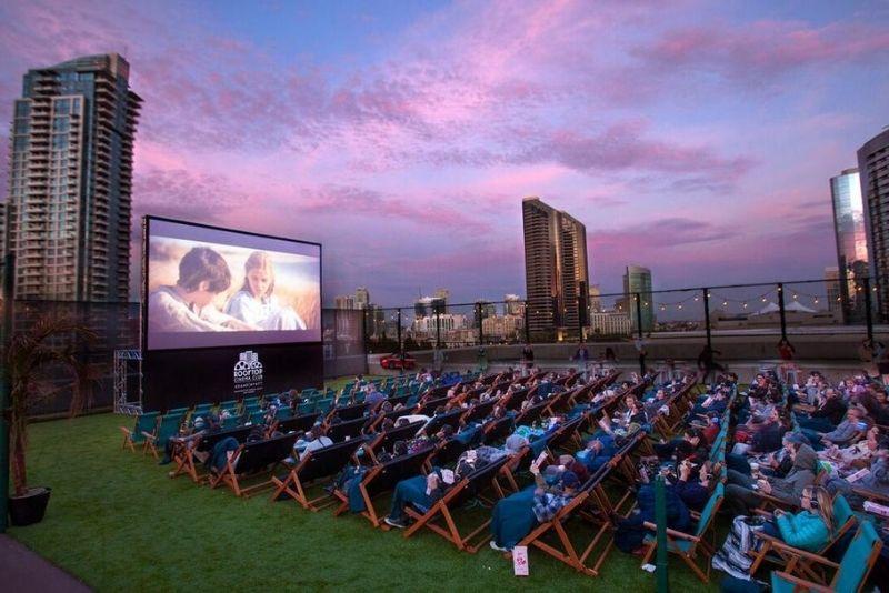 Rooftop Cinema Club in Houston