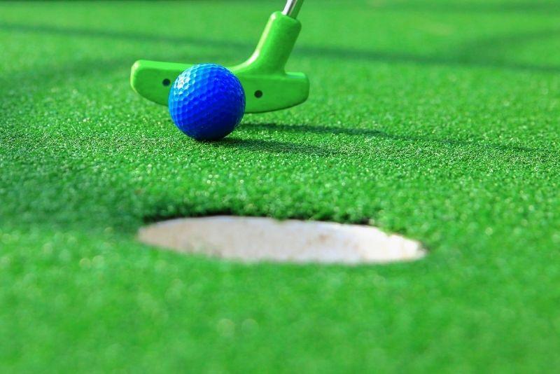 mini golfing in St Augustine