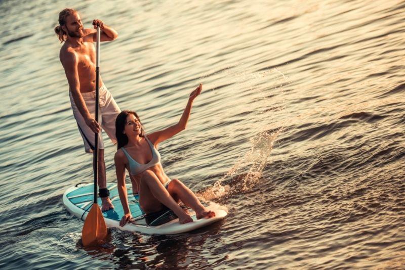 paddleboarding in Budapest