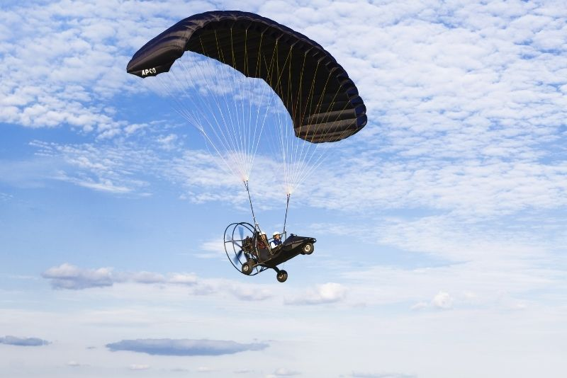 parachute flight in Dallas
