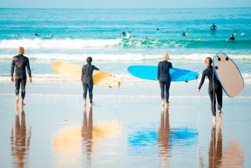surf lessons in Galveston