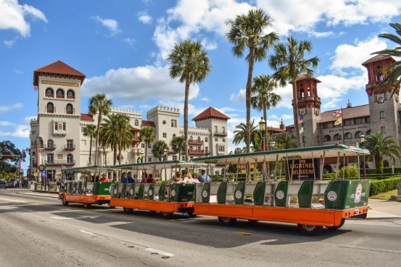 trolley tour in St Augustine