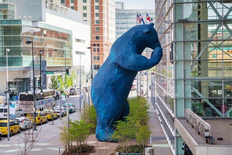 Big Blue Bear at Colorado Convention Center, Denver
