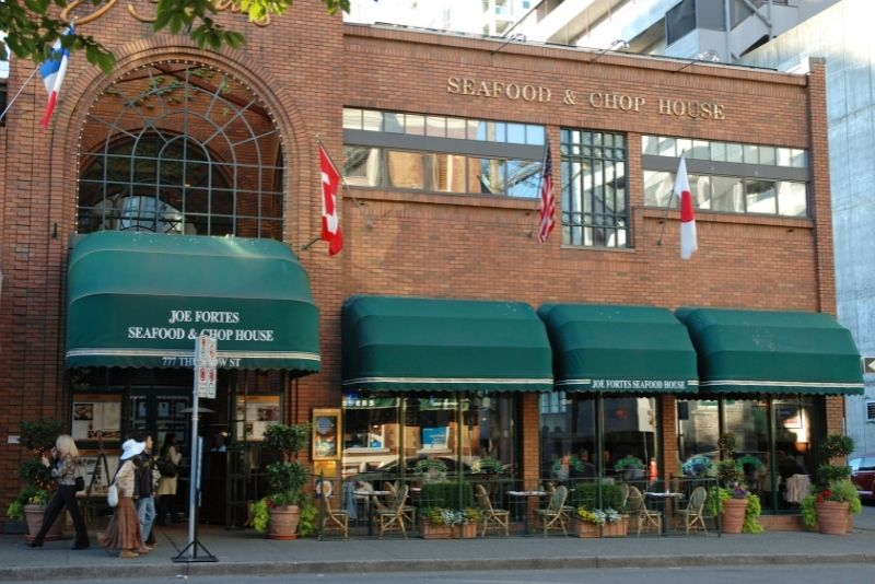 Joe Fortes Seafood & Chop House, Vancouver