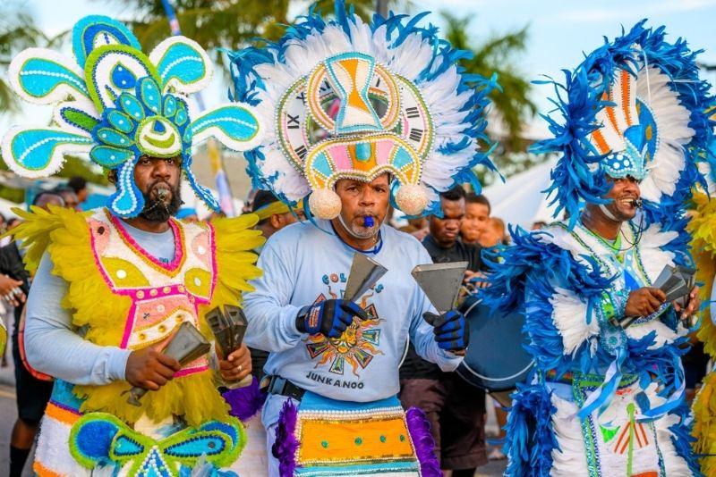 annual junkanoo festival in The Bahamas