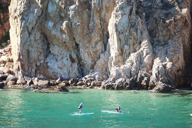 paddleboarding in Cabo San Lucas