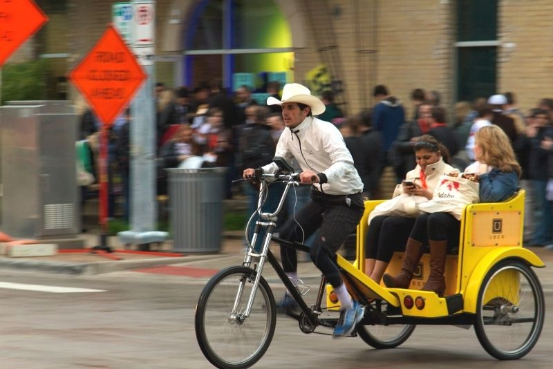 pedicab tour in Austin