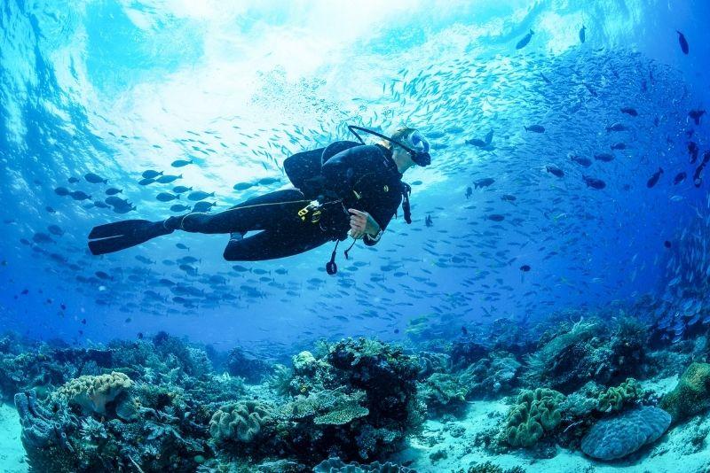 scuba diving in St Lucia