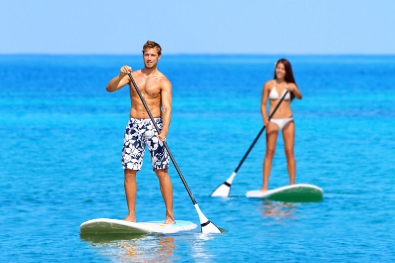 stand up paddleboarding in Cozumel