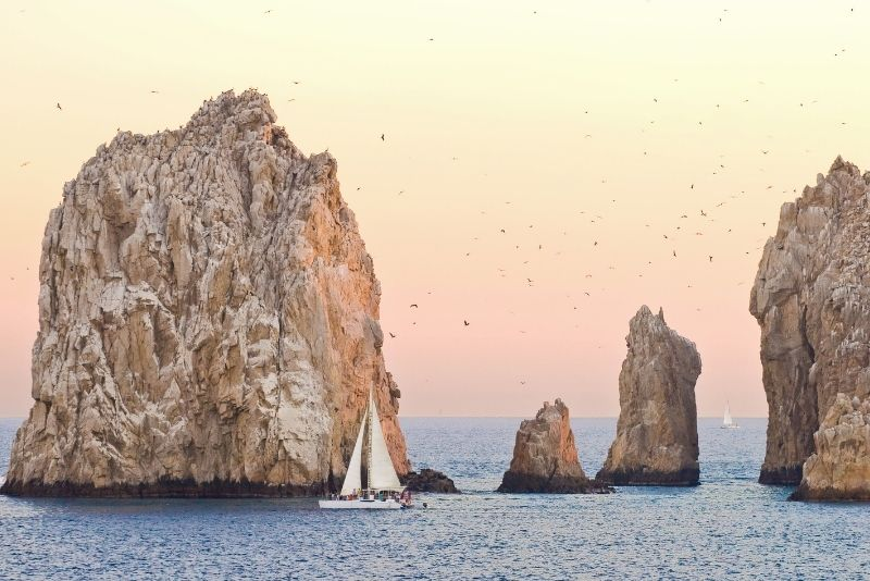 sunset sailing in Cabo San Lucas