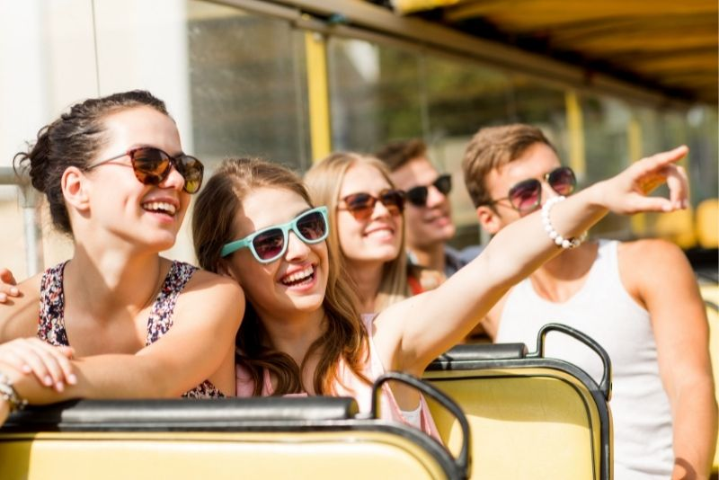 trolley bus tour in Cozumel