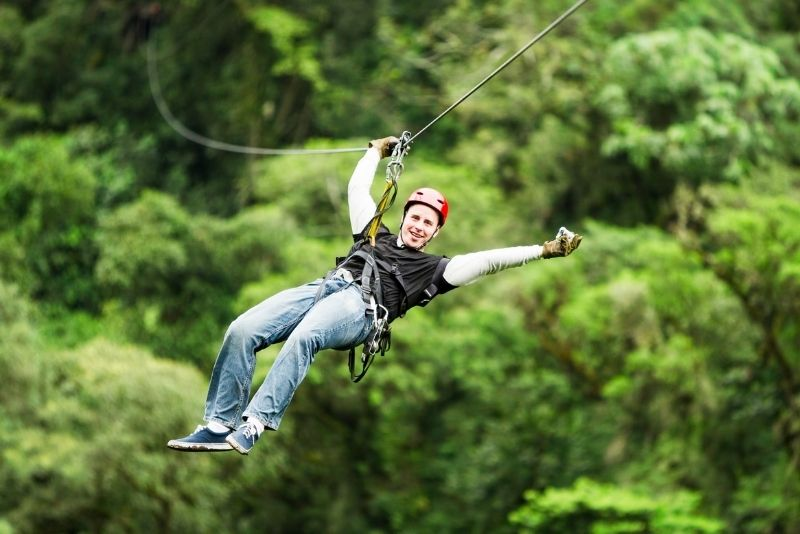 zip lining in St Lucia