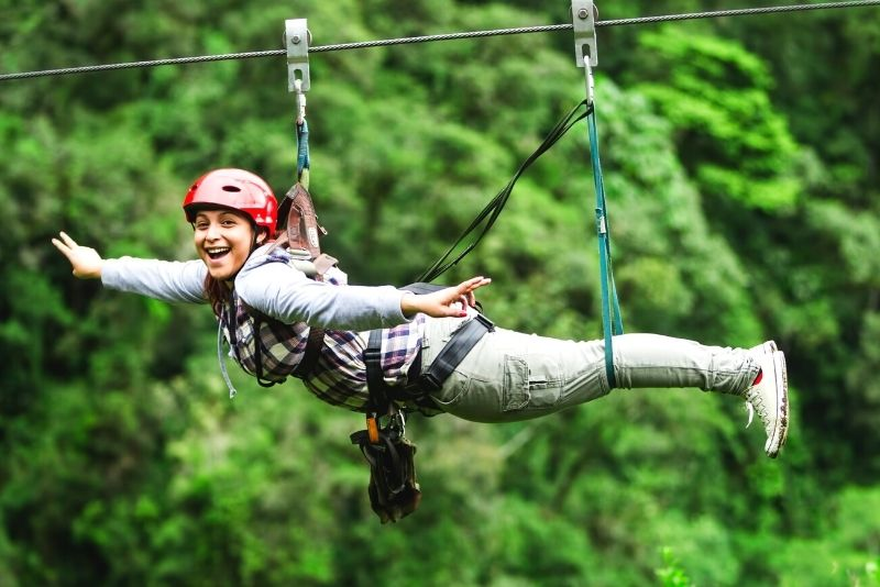 ziplining in Tulum