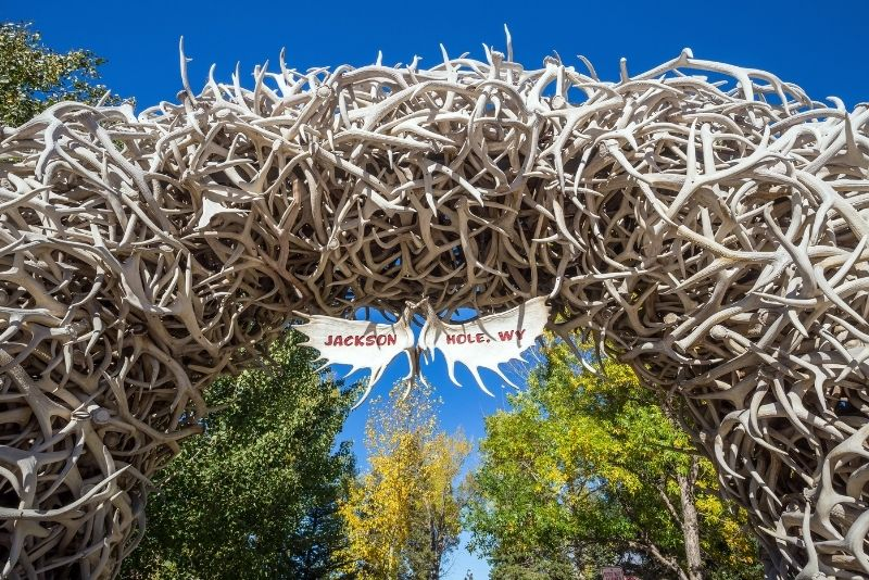Antler Arches of Jackson Town Square in Jackson Hole