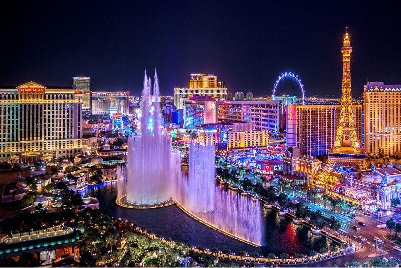 Bellagio Fountain show in Las Vegas