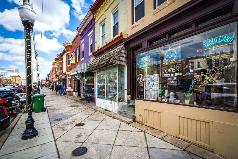 Hampden neighborhood in Baltimore