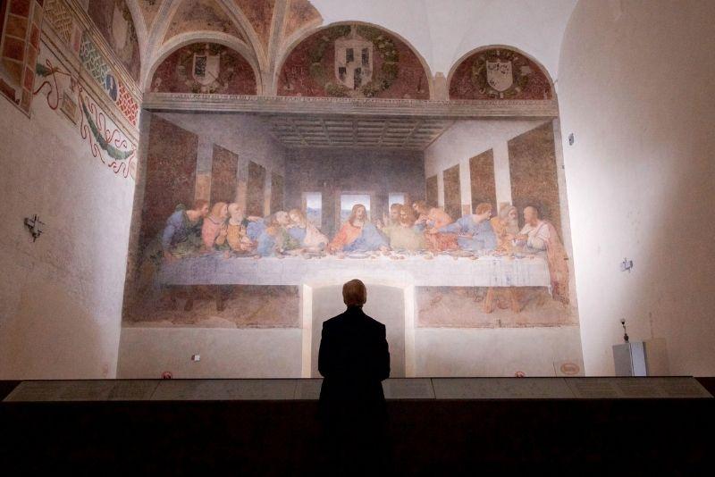 Letztes Abendmahl in der Kirche Santa Maria delle Grazie in Mailand