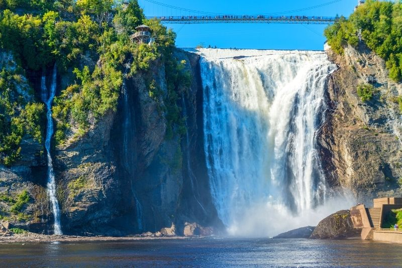 Montmorency Falls Park in Quebec