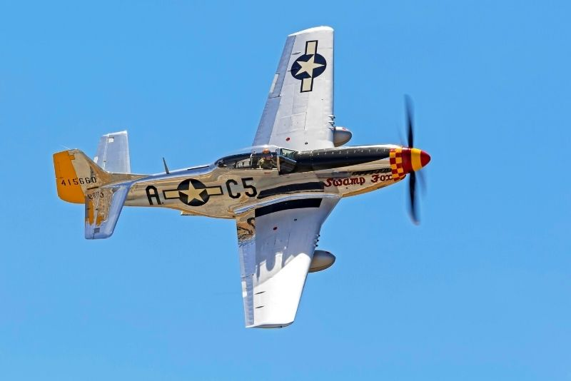 Mustang plane flying in Kissimmee